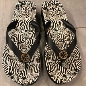 Shoes - Tory Burch wedge Flip Flops